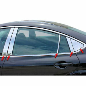 Stainless Pillar Posts W triangles Fit For 2009 12 Mazda 6 4d Luxfx2452