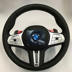 Bmw Oem F90 M5 Tri color Stitching M Sport Heated Steering Wheel Complete New