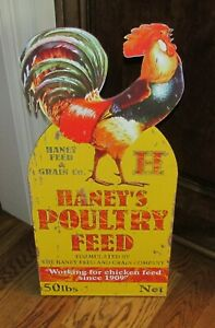 Big Rooster Poultry Sign Primitive French Country Farmhouse Urban Farm Decor