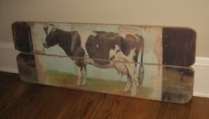 Big Dairy Milking Cow Wall Picture Primitive French Country Farmhouse Barn Decor