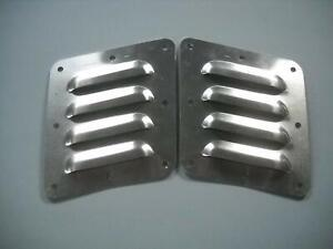 Tilted Pair Of 4 4 Louvered Panels Hood Louvers Bolt on Style Vent Kit