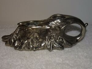 Art Nouveau Metal Floral Dual Candlestick Holder