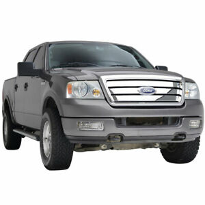 Full Upper Packaged Grill W shell Front Replacement Grille For 04 08 Ford F150