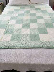 Lovely Vintage Lap Quilt Trip Around The World Hand Quilted