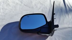 2002 2005 Ford Explorer Mountaineer Left Driver Black Power Mirror W Heat Oem