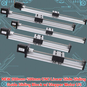 Cnc Linear Actuator Linear Motion Guide Slide Block Stepping Motor 200 500mm