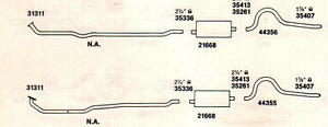 1969 1970 Dodge Dart Dual Exhaust System Aluminized With 383 Engine