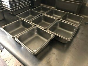 Lot Of 8 Production 125 Buffet 7 X 6 1 4 X 2 5 Insert Food Pans 3062 2 Nsf
