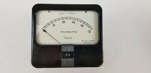 Simpson Analog Dc 0 75 Kilowatt Meter New Old Stock