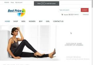 Ready Made Clothing Store Affiliate Automated Store Website