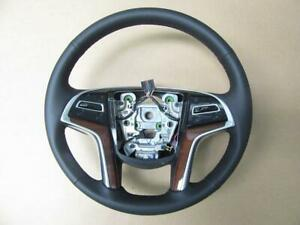Oem 2015 2018 Cadillac Escalade Brown Leather Steering Wheel 84310987