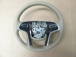 Oem 2015 2018 Cadillac Escalade Maple Sugar Leather Steering Wheel 84310982