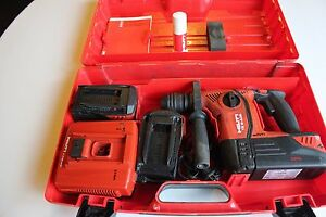 Hilti Sds Hammer impact Drill Model Te 6 A36 W 3 Batteries Charger
