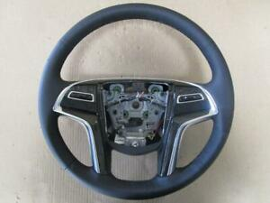 Oem 2015 2018 Cadillac Escalade Black Leather Steering Wheel Assembly 84310982