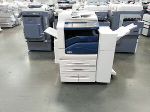 Xerox Workcentre 7556 Color Copier Printer Scanner With Stapling Finisher