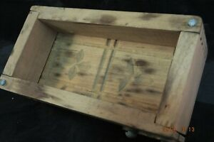 Primitive Wooden Butter Mold Press With Dovetail Joints
