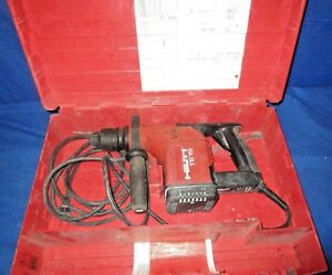 Hilti Te15 Rotary Hammer Drill W Case Free Same Day Shipping