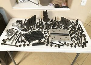Lot Of Machinist Hold Down Tooling Angle Plates T nuts Bolts Drill Chuck