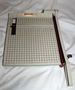 Vintage Boston 2612 Made Usa Heavy Metal 12 Paper Cutter Trimmer Scrapbook