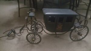 Vintage Handmade Wood Royal Carriage Coach Stagecoach Wagon
