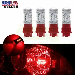 4x High Power 100w 6000lm 3157 3057 Cree Led Drl Daytime Light Red Bulbs 100w