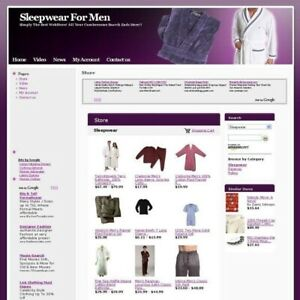Established Men Sleepwear Top Online Business Website For Sale Free Domain Name