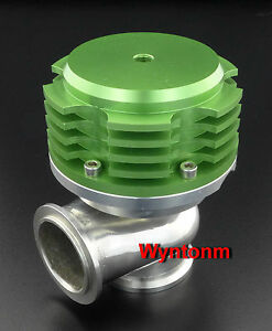44mm Wastegate 7 Psi Turbo Stainless Steel V Band Dump Cutout Valve Green