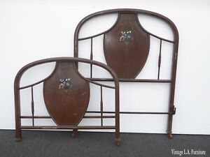Antique French Style Twin Headboard Foot Board As Is