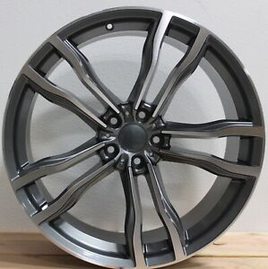 22 Inch Rims Fit Bmw X5 X6 X6m X5m X4 Rims M Sport Machined Staggered Wheels