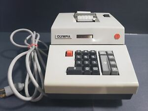 Vintage Olympia Electric Adding Machine Printer Tested Working