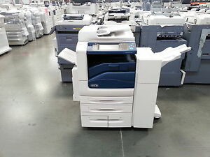 Xerox Workcentre 7545 Color Copier Printer Scanner With Stapling Finisher