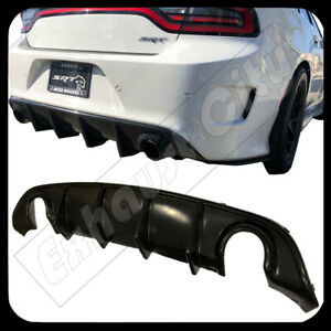 15 19 Dodge Charger Srt Oe Style Rear Lip Bumper Valance Diffuser