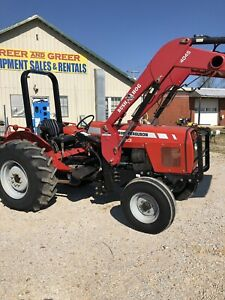 Massey Ferguson 583 80 Horsepower Diesel Tractor With Loader And Dual Remotes