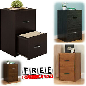 2 Drawer File Cabinet Office Storage Organizer Wood Filing Vertical Furniture