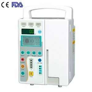 Fda Medical Infusion Pump Iv Fluid Equipment With Audible Visual Alarm New A