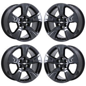17 Chevrolet Colorado Truck Black Chrome Wheels Rims Factory Oem 2018 2019 5671