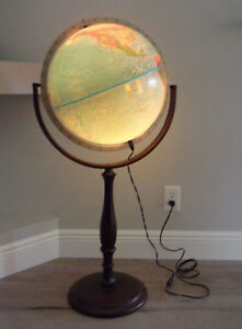 Vintage Lighted Stand Up Floor Scan Globe A S Denmark Edition 1991 Gb
