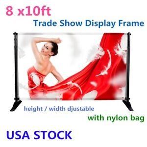Us Stock 8 X10ft Backdrop Telescopic Banner Stand Trade Show Display Frame