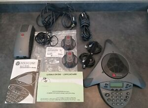 Polycom Soundstation Vtx1000 Conference Phone W Mics adapter cables works Great