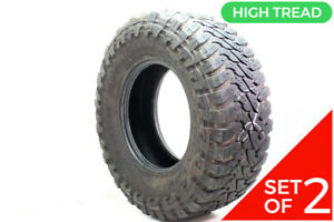 Set Of 2 Used Lt 35x12 5r17 Toyo Open Country Mt 125q 9 32