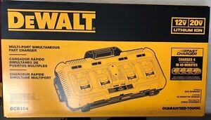 Dewalt Dcb104 4 Port Fast Charger Charges 4 At Once New In Box