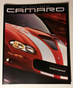 2002 Chevy Camaro Brochure Must See Ss Z28 35th Anniversary
