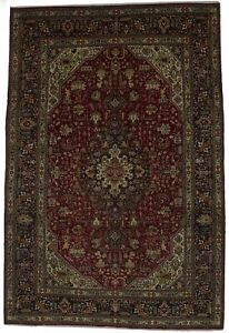 Vintage Large Traditional Design 7x10 Persian Area Rug Oriental D Cor Carpet