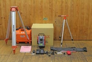 Pentax Total Station V 270c With Tripod Prism Set Surveying Survey