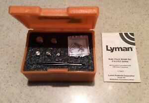 Lyman Reloading Scale Weight Check Set