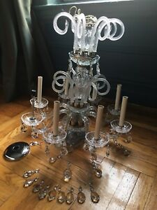 Vintage Murano Glass And Crystal Chandelier Magical