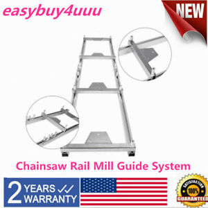 Aluminum Chainsaw Rail Mill Guide System Set 4 Reinforce 4 Fixed Plate