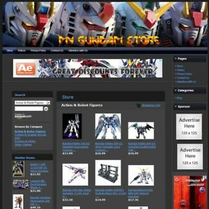 Gundam Store Premium Affiliate Website Business For Sale Free Domain Name Now