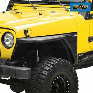 Fits 97 06 Jeep Tj Wrangler Front Fender Flare Rock Guard Textured Tube