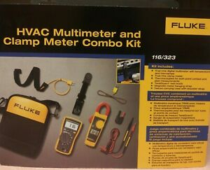 Fluke 116 323 Multimeter And Clamp Meter Combo Kit New In Box